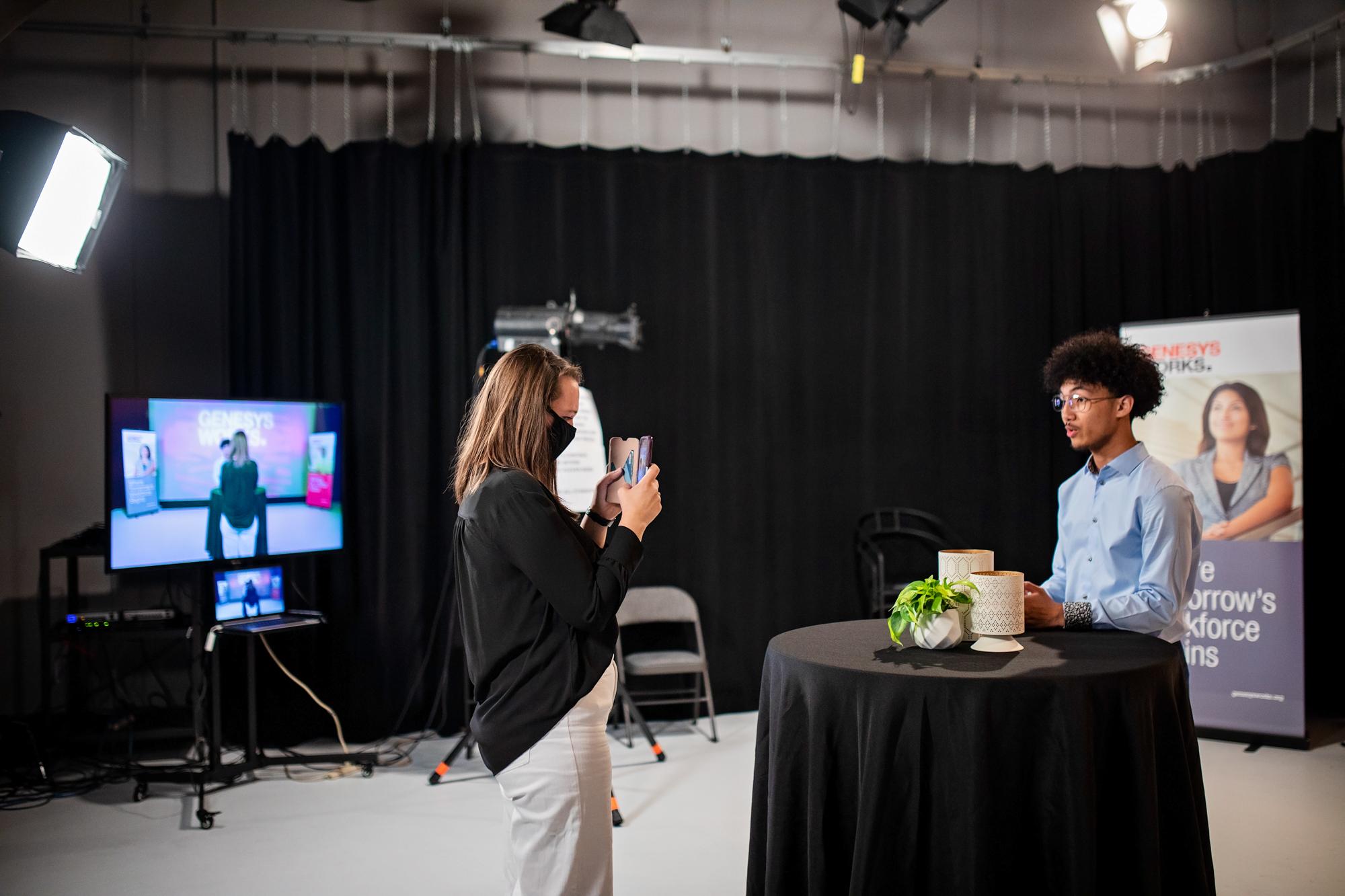 Virtual event studio production livestream in Northeast Minneapolis